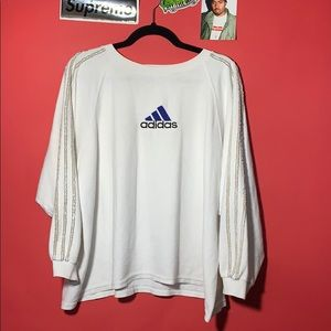 Vintage 90s Adidas embroidered spellout logo shirt